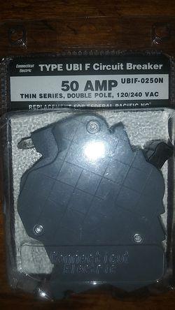 Circuit breaker type UBI F 50amp double pole for Sale in San Angelo,  TX