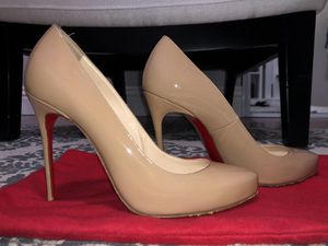 Christian Louboutin nude heels for Sale in Santa Fe Springs, CA