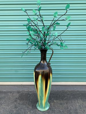Decorative light up plant with metal vase for Sale in Fullerton, CA