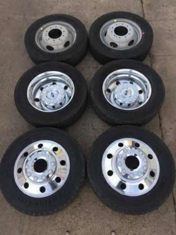 wheels dually tires rims f450 ford 2008 rines 450 f250 factory continental offerup platinum fx4 llantas 2009 parts
