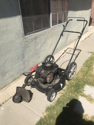 Lawnmower electric weed wacker combo as is for Sale in Buena Park, CA