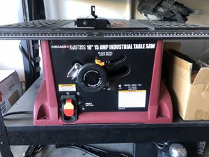 New Chicago electric table saw with stand for Sale in North Las Vegas, NV