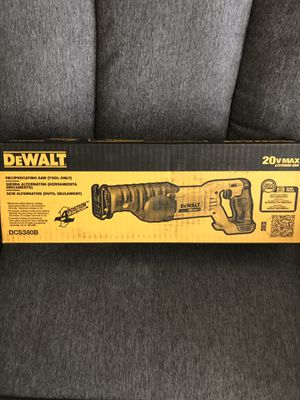 NEW DEWALT 20-Volt MAX Lithium-Ion Cordless Reciprocating Saw (Tool-Only)NO BATTERY NO CHARGER for Sale in Los Angeles, CA