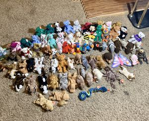 VINTAGE BEANIE BABIES COLLECTION | *LOT OF 75* -GREAT CONDITION | SOME W RARE TAG ERRORS for Sale in Tempe, AZ