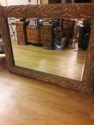 Beautiful large mirror Length 50 Tall mirror for Sale in West Palm Beach, FL