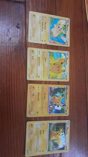 4 Pikachu Pokemon cards for Sale in Philadelphia, PA