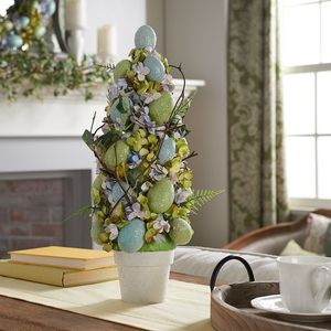 Sugared Egg and Floral Topiary w/ Potted Base for Sale in Pompano Beach, FL