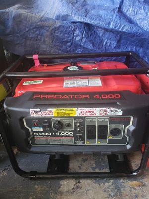 PREDATOR 4000 Watt Max Starting Extra Long Life Gas Powered Generator for Sale in San Antonio, TX