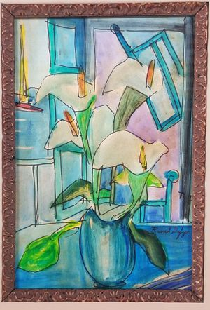 Raoul Dufy Mixed Media Drawing (1877-1953) Antique Painting French Art Original Hand Painted Picasso Matisse Van Gogh Monet Manet Era for Sale in Miami, FL