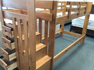😀Twin/Twin Staircase Bunk Bed w/Staircase Drawers 🚚 FAST DELIVERY CHARLOTTE AREA 🚚🔥🔥***buysmart and SAVE 💰!!!!🔥 Is very simple to place the order. for Sale in Charlotte, NC