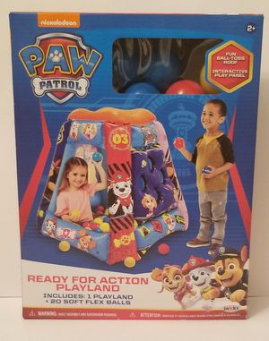 Paw Patrol Inflatable Play Land With 20 Balls SpinMaster Nickelodeon Ball Pit for Sale in Milton, PA