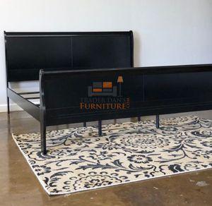 Brand New King Size Black Wood Sleigh Bed Frame for Sale in Arlington, VA
