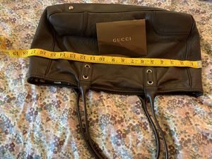Authentic chocolate GUCCI leather Tote for Sale in New York, NY