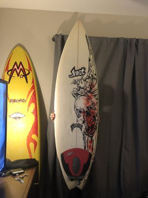 """Custom LOST hand painted 5'6"""" tri-fin fish Shortboard Surfboard for Sale in Charlotte, NC"""