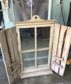 Window mirror barn Rustic style in real good condition and shape for Sale in Costa Mesa,  CA