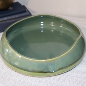 Gorgeous Boho Chic or Coastal Sea Green ceramic decorative bowl by Partylite for Sale in Monrovia, CA