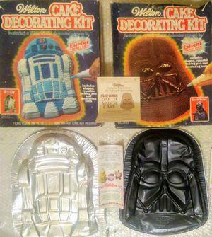 Vintage Star Wars Cake Pans R2D2 and Darth Vader Wilton 1980 for Sale for sale  Mobile, AL