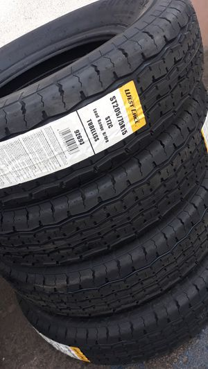 St205 75 r15 trailer tires 4new$200 for Sale in Moreno Valley, CA