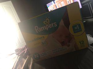 Pamper baby diaper 120 newborn <10 for Sale in South El Monte, CA