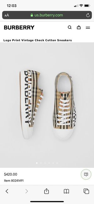 Burberry sneakers for Sale in Highland, CA