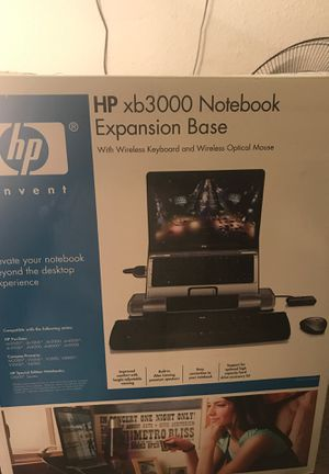 Hp xb3000 notebook expansion base with wireless keyboard and wireless optical mouse for Sale in Kansas City, MO