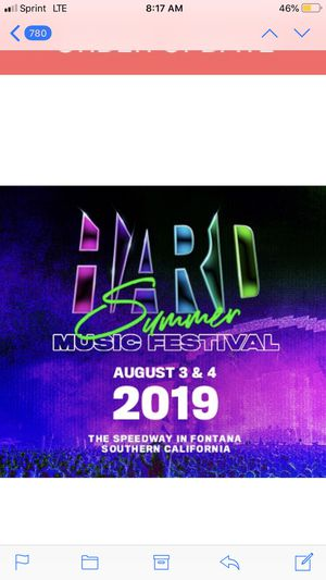2 DAY PASS HARD SUMMER for Sale in Norwalk, CA