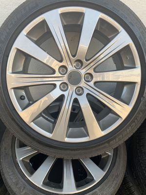 4 rims and tires Honda Civic and accord fit any car sizes 215/45/17 no scratch or damage clean for Sale in San Lorenzo, CA