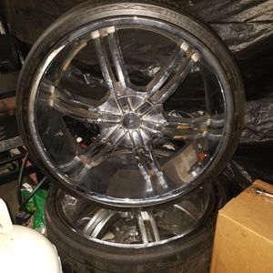 295/30/26 Crome Rims For Truck for Sale in Columbia, SC