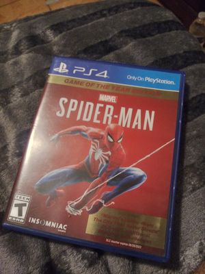 Spider-man Game of the Year Edition PS4 for Sale in Los Angeles, CA