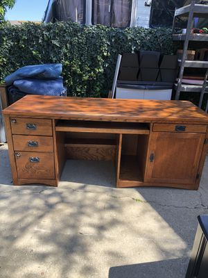 Mission Style Desk! for Sale in Rancho Cucamonga, CA