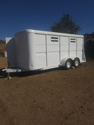 🐄🐷🐑LIVESTOCK/🐴HORSE TRAILER,WIDE & TALL,NEW PERM PLATES for Sale in Palmdale, CA