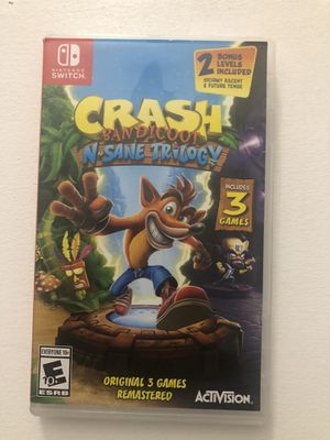 Nintendo switch crash bandicoot n-sane trilogy for Sale in Westminster, CO