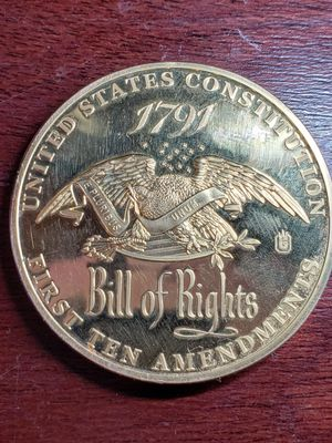 1791 bill of rights gold coin for Sale in Leland, MS
