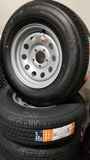 NEW TRAILER TIRES AND WHEELS ST205/75R15 ( OTHER SIZES AVAILABLE for Sale in Douglasville, GA