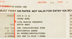 2 Kevin Hart Tickets for Sale in Newark, OH