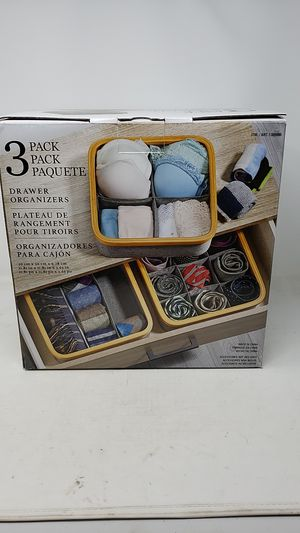 3 Pack of Organizers for Drawers, Dressers, and Closets New for Sale in Coarsegold, CA