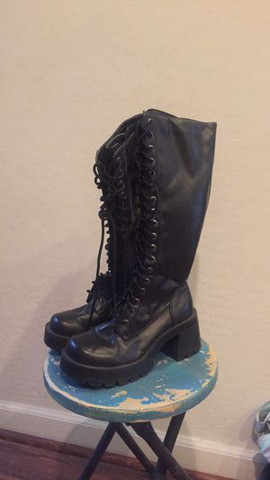 NEW Bongo knee high combat boots - every day or costume for Sale in Buckeye, AZ