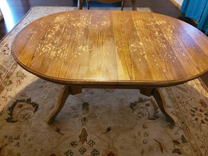 Wood dining table only for Sale in Wichita, KS