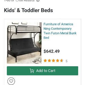 Kids Futon Bunk Beds for Sale in Portland, OR