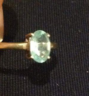 Light green gemstone 10k gold ring for Sale in Corpus Christi, TX