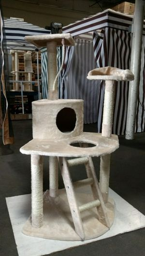 New in box 49 inches tall 19x19 inch base cat tree play post pet furniture kitten kitty scratcher scratching post for Sale in Whittier, CA