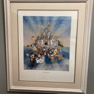 Disney Happiest Place On Earth Poster Like New for Sale in Chicago, IL