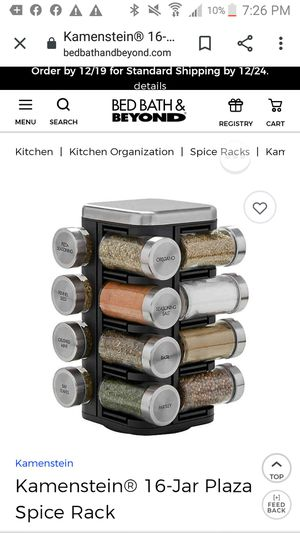 Excellent condition Spice rack with 16 jar for Sale in Renton, WA