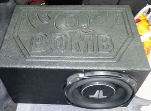 JL Audio 10 W3 Shallow mount sub in Q BOMB Box in great conditon. works great!!!q $200 cash for Sale in Buford, GA