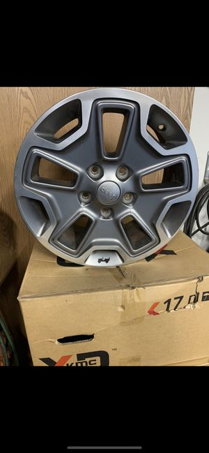 """Set of 5 ,17"""" Jeep rubicon wheels 5x5 for Sale in Bonney Lake, WA"""
