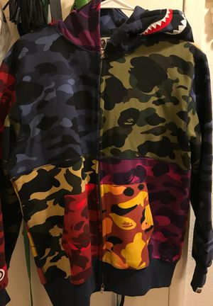 BAPE Mix Camo Crazy Shark Full Zip Hoodie Multi for Sale in Tucson, AZ