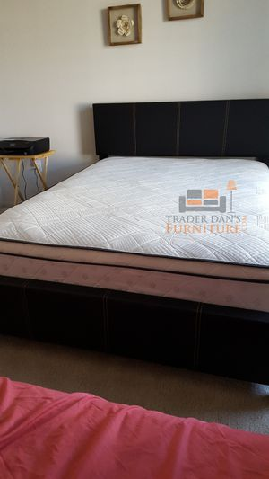 Brand New Full Size Leather Platform Bed + Pillowtop Mattress for Sale in Silver Spring, MD