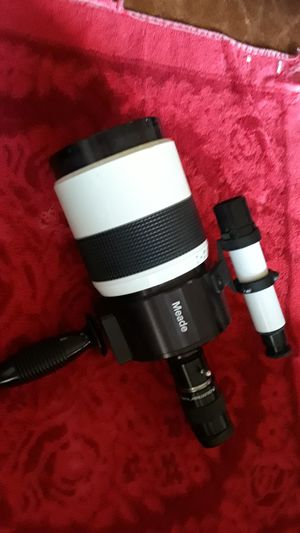 Telescope telephoto camera lens Meade 1000 mm with Celestron Plossl eyepiece for Sale in Los Angeles, CA
