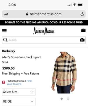 Burberry Men's Button Up Shirt for Sale in King of Prussia, PA