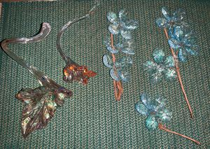 Murano Style Hand Blown Glass Flowers for Sale in Las Vegas, NV